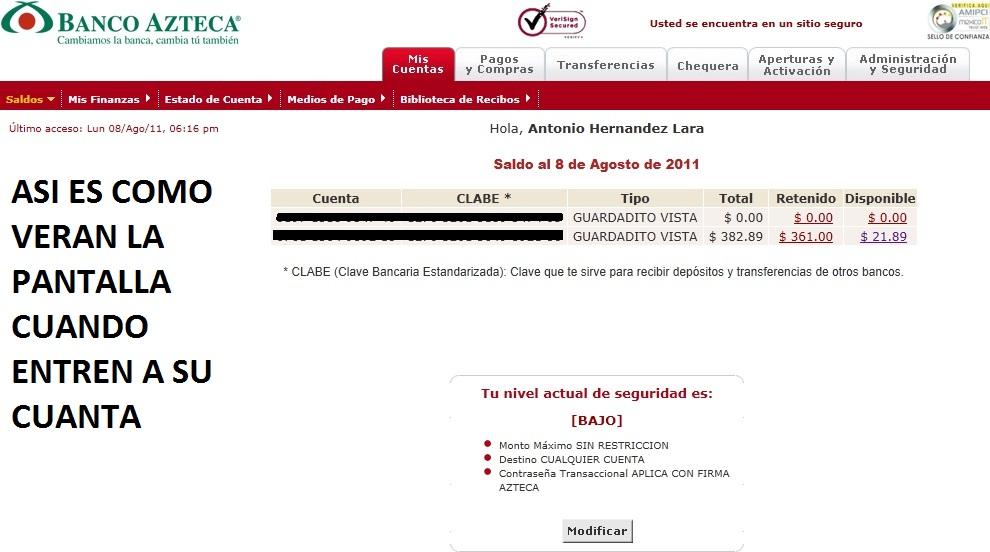 Tutorial guardadito para banca electronica jehova es mi for Banesco online consulta de saldo cuenta de ahorro